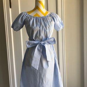 Zara size M blue and white stripe dress